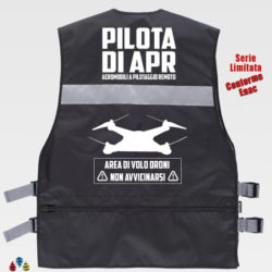 Gilet pilota apr nero retro