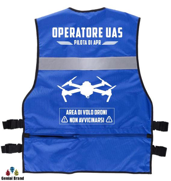 gilet operatore di uas per il pilota di apr e l'operatore sapr